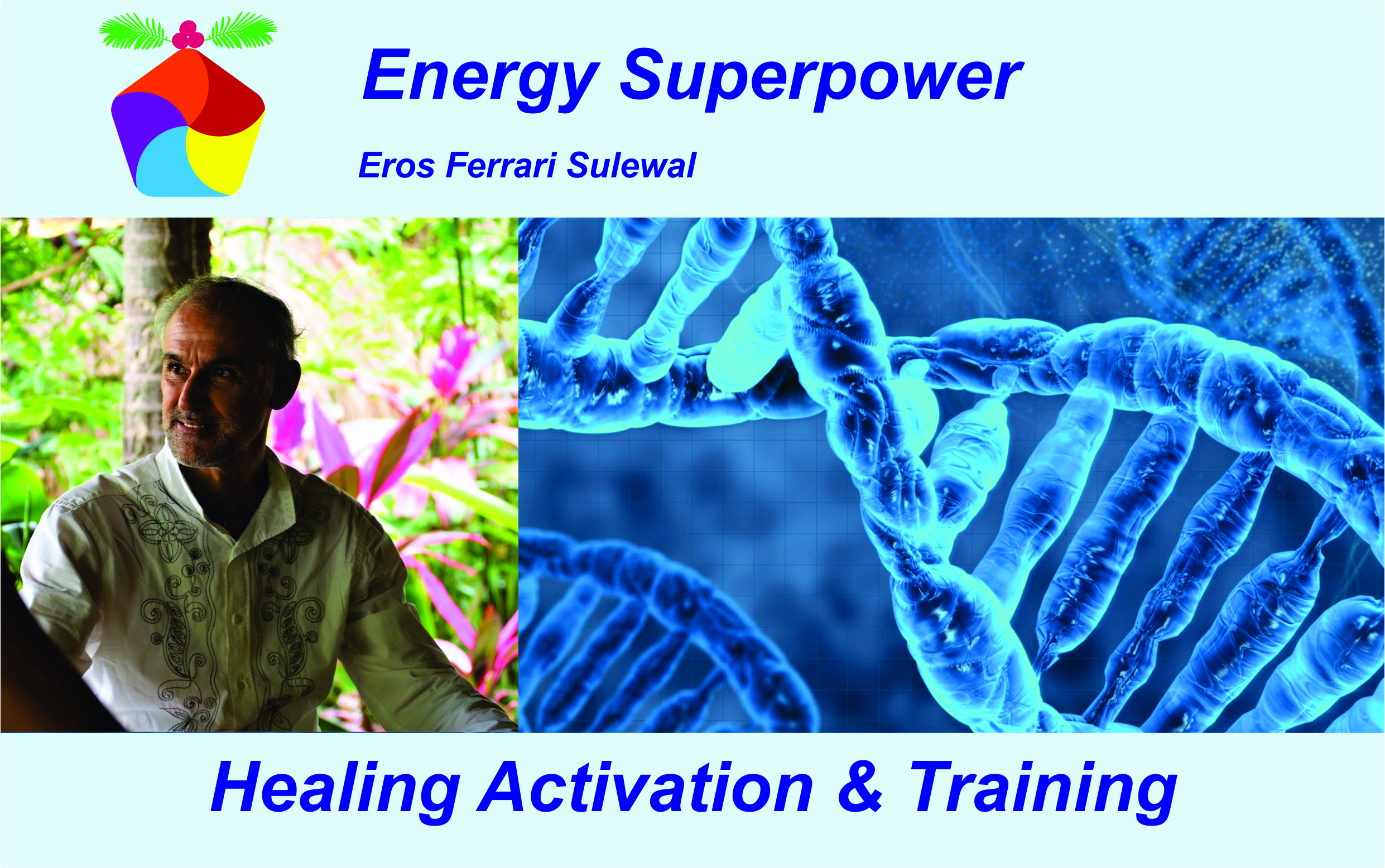 recover regenerated the psychophysical balance, mind and body Wellness! Goodbye toxins nowadays the need increasingly severe to keep the body of the mind in shape. The training has analysis, relaxation, healing and detoxification. Endless bioactivation Great activation of cosmic harmony Bio wave ocean activation SuperPower energy activation Reiki activation High chakra vibration Activation of the pineal DMT gland Kundalini Awakening Awakening and DNA repair B. Practice of energy superpower techniques Relaxation is natural anti-stress Calm mind in a few seconds Lower the frequency of the brain Respiratory balance Live the here and now! Nervous system therapy Perfect psycho-physical balance Balance of the cardiovascular system Rebalancing chakra Awakening of consciousness Unlock the energy blocks Read and clean the Aura Reading and purification of Karma Postural and spiritual alignment Psychosomatic healing Past life and healing of the Ancestors DNA damage and repair Healing of quantum energy Neuroscientific healing. Unlimited extraordinary benefits! Radiant Soul detoxifying workout Booking enrgysuperpower1@gmail.com WhatsApp +39371 1861349 with over 15 years experience in Asia. He has managed wellness resorts in Thailand and multi-disciplinary clinics in Thailand and Australia. Retired for sale, high-networth clients. Eros Ferrari Sulewal key focus is empowerment through education: empowering guests to achieve their personal goals and empowering staff to deliver extraordinary service and support and thus enrich and improve their own life experience