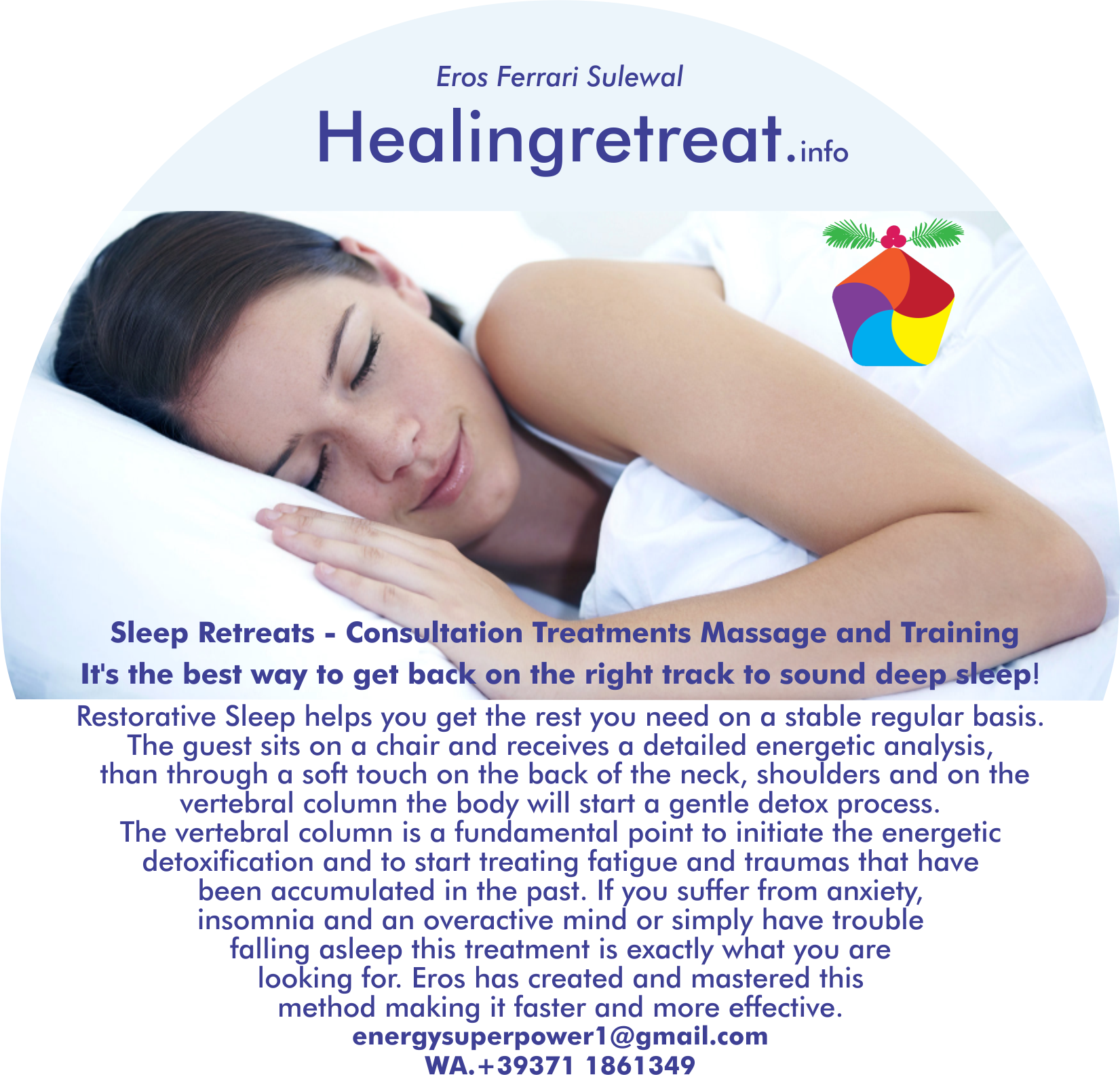 3 NIGHTS RETREAT FOR DEEP SLEEP THERAPY